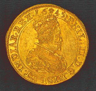 Philip IIII double sovereign d'or of Brabant.  Ponterio & Associates auction 41 (March 15,16, 1990) lot 2534.